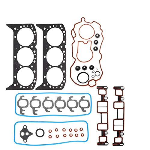 (Head Gasket Set Replacement for Chevrolet Express Silverado Compatible with GMC Sierra 1500 Jimmy Isuzu Replacement For Oldsmobile 96-06 V6 4.3L)