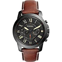 Fossil Grant Chronograph Leather Watch f...