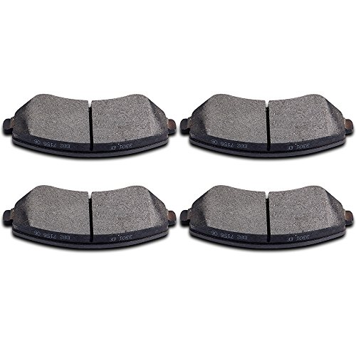 Brake Pads,ECCPP 4pcs Front Ceramic Disc Brake Pads Kits for 2001-2006 Chrysler Town Country,2001-2003 Chrysler Voyager,2001-2007 Dodge Caravan,2001-2007 Dodge Grand Caravan,2002-2007 Jeep Liberty