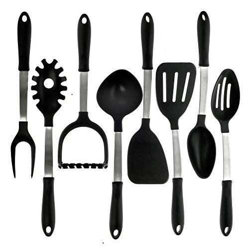 Kitchzen 8 Piece Stainless Steel Cooking Utensils Set Made In