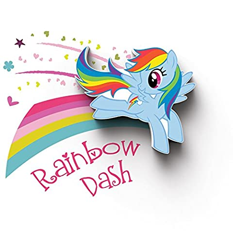 3D Light FX My Little Pony Rainbow Dash 3D Deco Mini-Sized LED Wall Light (Rainbow Dash Wall)