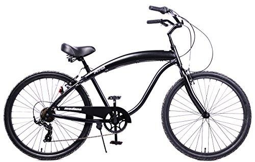 Best price for Anti-Rust & Light Weight Aluminum frame, Fito Modena II Alloy Shimano 7-speed – All Matte Black, men's 26″ Wheel Beach Cruiser Bike