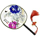 Attractive Chinese Round Fan Classical Dancing Dan With Beautiful Pattern, #11