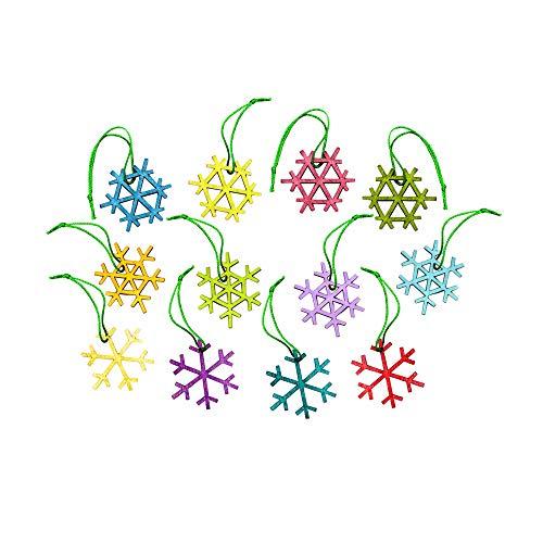 Design Ideas Alpine Snowflake Ornaments, Set of 24