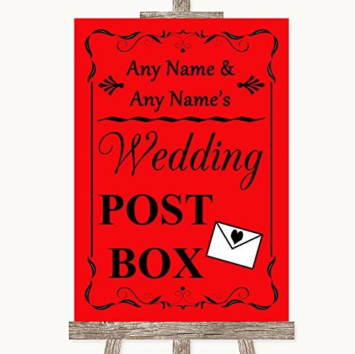 Rojo boda señal colección rojo tarjeta buzón de correos boda ...