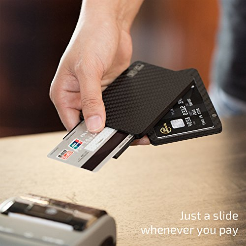 Magwallet Modular Slim Holder Matte Blocking Twill Wallet Minimalist Card Magwallet Ue UE RFID PITAKA Carbon Finish Fiber xY8wgZFnqt