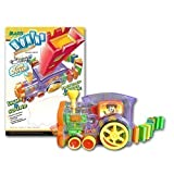 BLASTS DOMINO RALLY TRAIN - LIGHTS & SOUNDS - 100 PIECE SET NEW GREAT GIFT - RACK THEM UP & KNOCK THEM DOWN by Designgearint??