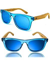 Kids Wayfarer Beech Wood Polarized Sunglasses by Wildwood...