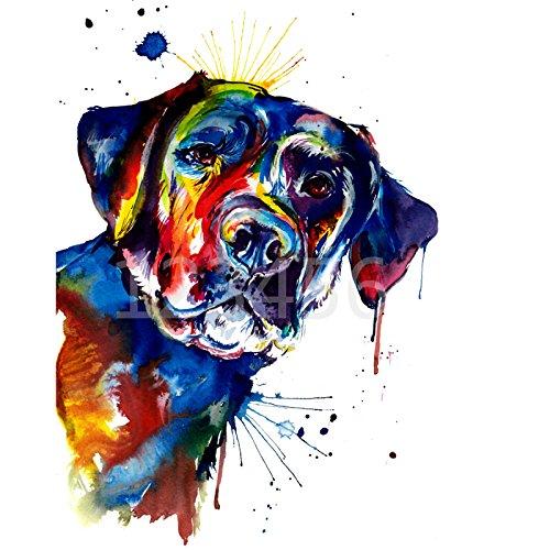 (24x34cm) 5D DIY Diamond Painting Full Square diamond paint black labrador Dog Cross Diamond Mosaic Embroidery abstract Dog Painting Christmas Gift YIWU