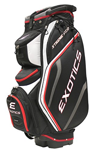 Tour Edge Exotics Extreme Pro Deluxe Cart Bag (Men's, Exotics Extreme Pro Deluxe Cart Bag Black/White/Red) - Extreme Bag