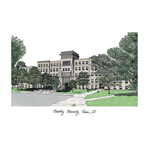 (Campus Images Sports Team Logo Design Bradley University Campus Images Lithograph Print )