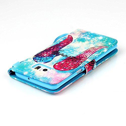Galaxy S6 Edge Plus Hülle, Galaxy S6 Edge Plus Case, Anlike Schutzhülle Wallet Case Tasche Cover Handytasche Schutzhülle Handy Zubehör Lederhülle Handyhülle mit Standfunktion Kredit Kartenfächer Hülle YB--a04