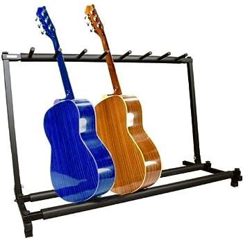ymc guitar folding stand rack band stage bass acoustic guitar 7 holder musical. Black Bedroom Furniture Sets. Home Design Ideas