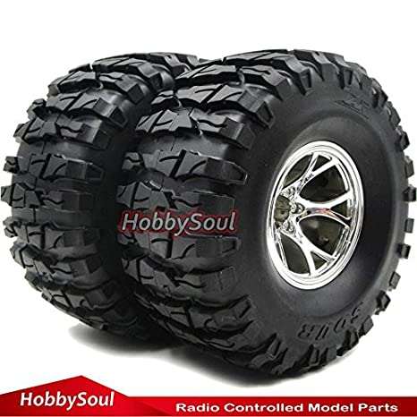 Amazon com: 2pcs RC 2 2 Rock Crawler Tires Truck Tyre AR