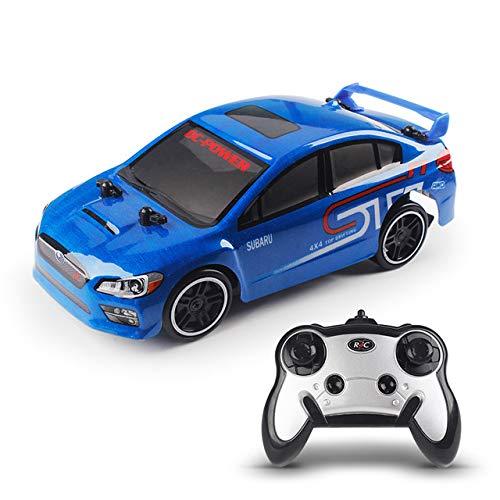 BeesClover HOT!2.4G RC Drift Speed car Evolution X Subaru 4 Channel Remote Control Racing Car 30KM/H High Speed 4WD Drift Racing Car Blue One Size (Drift Rc Car Subaru)
