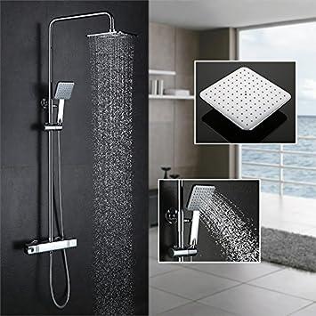 Homelody Plateada 38ºC Termostato incorporado Columna de ducha Set ...