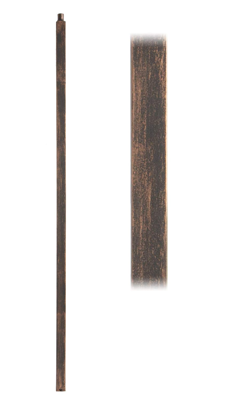 Oil Rubbed Bronze 16.5.8 Plain Square Iron Newel Support Post for Stair Remodeling by House of Forgings