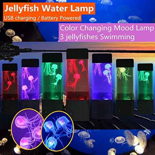 LED Lampara De Medusa Acuario LED luz de Noche,iluminación pecera noche,Decorar Regalo: Amazon.es: Iluminación