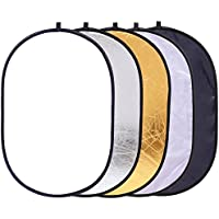 Reflector Panel 35x47/ 90x120cm 5 in 1 Oval Reflector for Photography Photo Studio Lighting & Outdoor Lighting