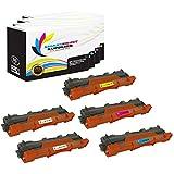 Smart Print Supplies Compatible TN221BK TN225C TN225M TN225Y Premium High Yield Toner Cartridge Replacement for HL-3140CW, MFC-9130CW 9330CDW, DCP-9020CDW Printers (Black Cyan Magenta Yellow) - 5 Pack