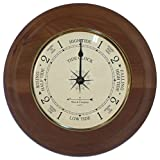 "9"" Tide Clock with Convex Glass Lens and Oak Base by West and Company"