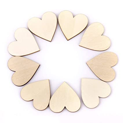Amazon Com Funseco Wooden Love Heart Small Wood Piece Crafts Decor