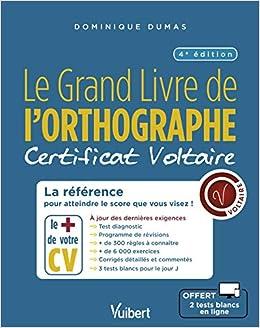 Le Grand Livre De L Orthographe Certificat Voltaire
