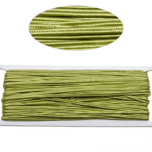(Yellowish Green Color Soutache Cord for Jewelry Making-65 Feet-2.5mm Width)