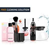 brush shampoo - Makeup Brush Cleaner and Dryer with FREE SHAMPOO: Electric Spinner Tool Kit with Bowl, Make Up Brush Holders for Spin Cleaning Cosmetic Brushes of All Sizes - Washes, Dries in Seconds - Black