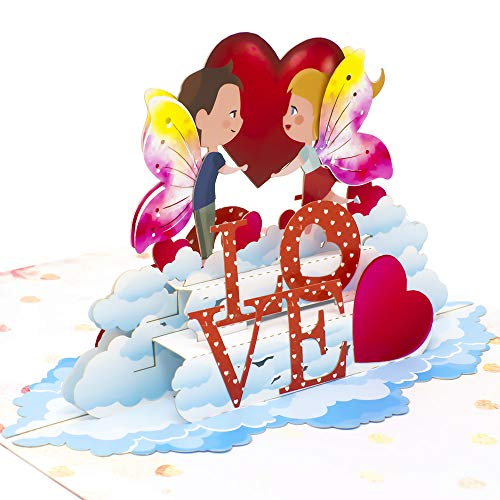 - Paper Love Fairy Love Pop Up Card, 3D Popup Greeting Cards, For Valentine's Day, Wedding, Anniversary, Birthday, Romance