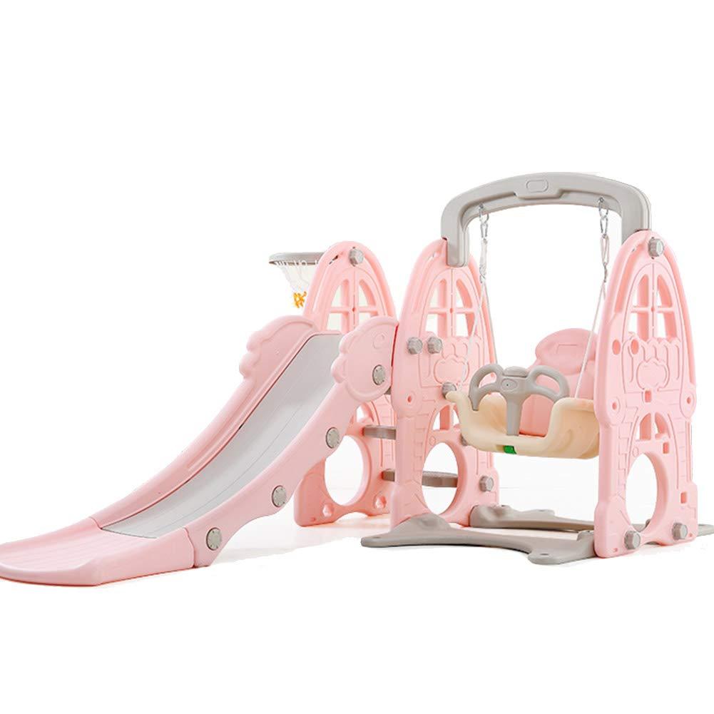 スライドスイングコンビネーション 大庭用スライド 幼児用スライド 多機能玩具 幼稚園の遊び場 屋内と屋外 B07SHG7W6M