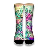 Pineapple We Love Tube Socks Cool Street Socks Hip Hop Street Professional Skateboard Sports Men Women Socks White