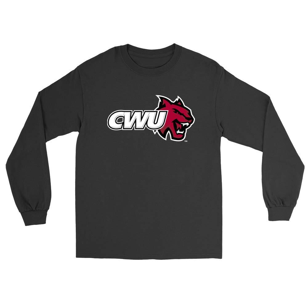 Official NCAA Central Washington University Wildcats PPCWU032 Mens//Womens Boyfriend Long Sleeve Tee