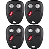 Keyless Entry Shell for Chevy,SCITOO 4 PCS Just the Case Keyless Entry Remote Key Fob Shell For LHJ011