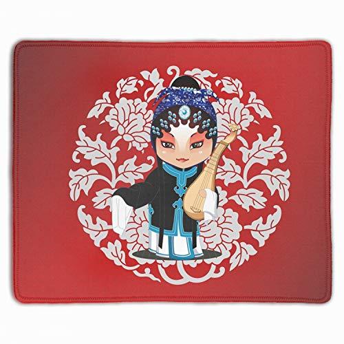 Unique Musical Instrument Beijing Opera Costumes Printed Mousepad Non-Slip Rubber ()