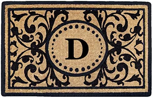 Heavy Duty 22 x 36 Coco Mat Heritage, Monogrammed D