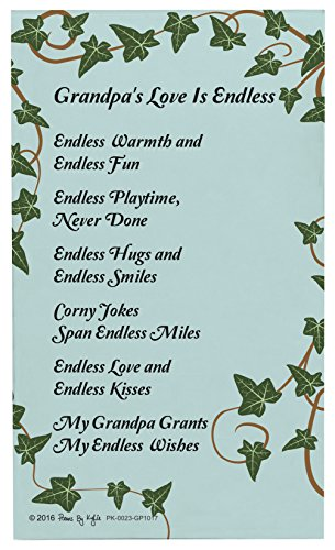 Christmas Gifts for Grandpa Grandpa's Love is Endless Grandpa Poem Decorative Poetry Award Gift Plaque Glass Plaque