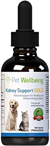Pet Wellbeing - Kidney Support Gold for Cats - Natural Support for Feline Kidney Health - 2oz (59ml)