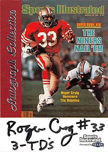 - Roger Craig autographed football card inscribed 3 TDs (San Francisco 49ers) 1999 Fleer Greats of Game #RC1 damage discount