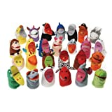 Cre8tive Minds HK7188 ABC Animal Hand Puppets, Grade kindergarten to 3