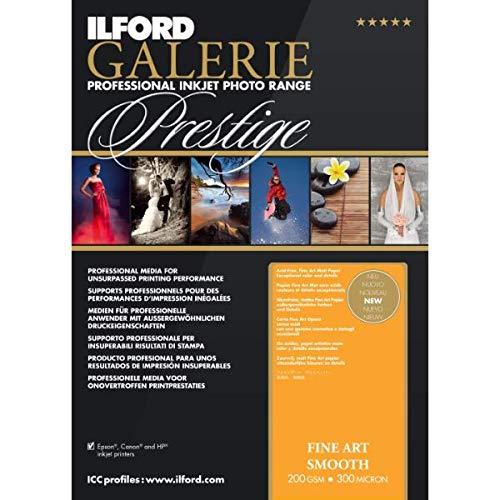 Ilford Galerie Fine Art - ILFORD 2004060 GALERIE Prestige Fine Art Smooth - 13 x 19 Inches, 25 Sheets (200gsm)