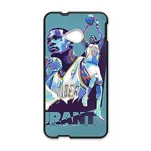 QQQO OKLAHOMA CITY THUNDER Basketball NBA Black Phone Case for HTC One M7