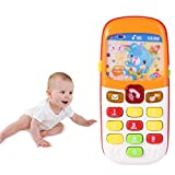 Yasheep Baby's First Smart Phone, Laugh and Learn Electronic Phone Toy Kids Role Play Toy Phone, Educational Learning Toy,Suitable Gift for Kids 0-7 Year Old