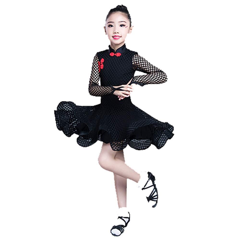 Noir HUO FEI NIAO Costume de Danse Costume de compétition Professionnelle (Couleur   Vert, Taille   M) XXXL
