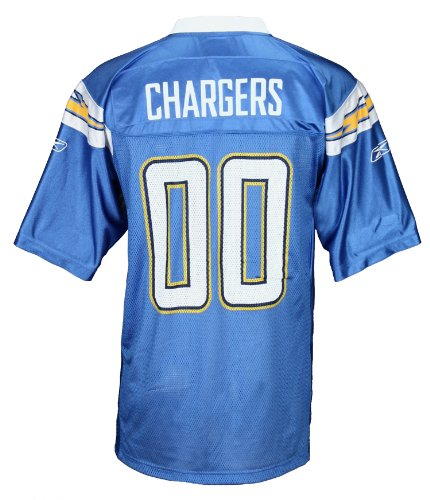 San Diego Chargers Football Jersey: San Diego Chargers NFL Mens Team Replica Jersey, Blue