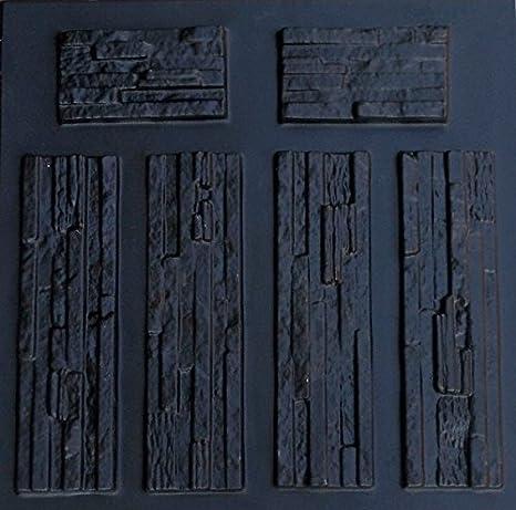 Amazon Com Plastic Mold Form For Wall 6 Pcs Tile Brick Verona Mold