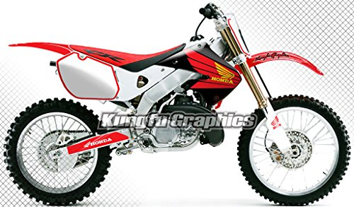 Kungfu Graphics Custom Decal Kit for Honda CR125 CR250 1997 1998 1999, Red White, Style - Graphic Honda Replica