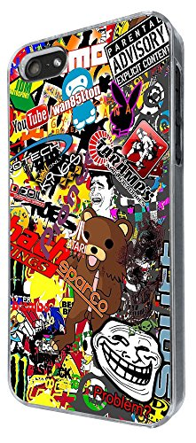 Cool Fun Cartoon StickerBomb Sticker Bomb 235 Design iphone 4 4S Fashion Trend Hülle Case Back Cover Metall und Kunststoff