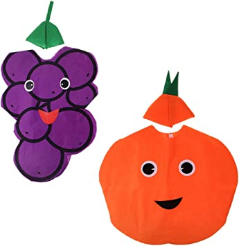 Sharplace 2X Traje de Naranja UVA Fruta Tela No Tejida Cabritos ...
