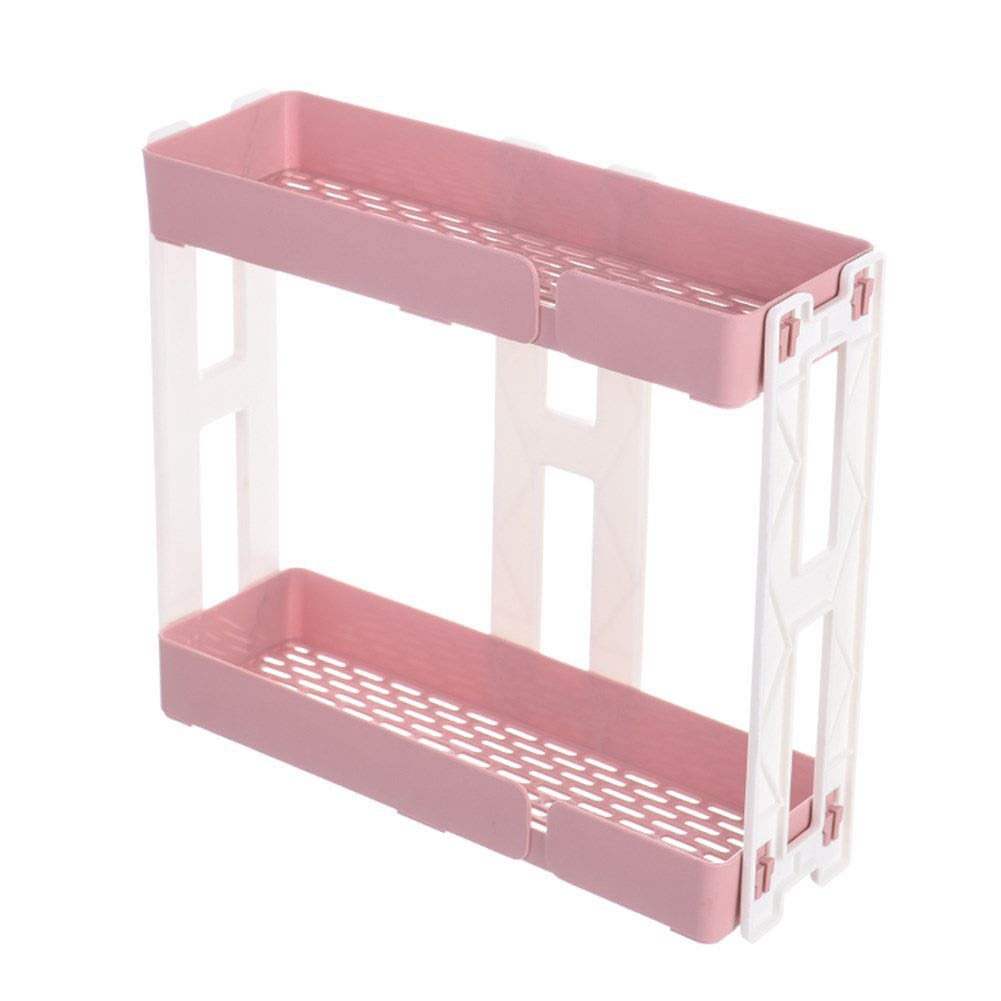 Multi-function storage box Plastic racks Household Breathable Easy to clean Stable 113531cm (Color : Pink, Size : 113531cm)